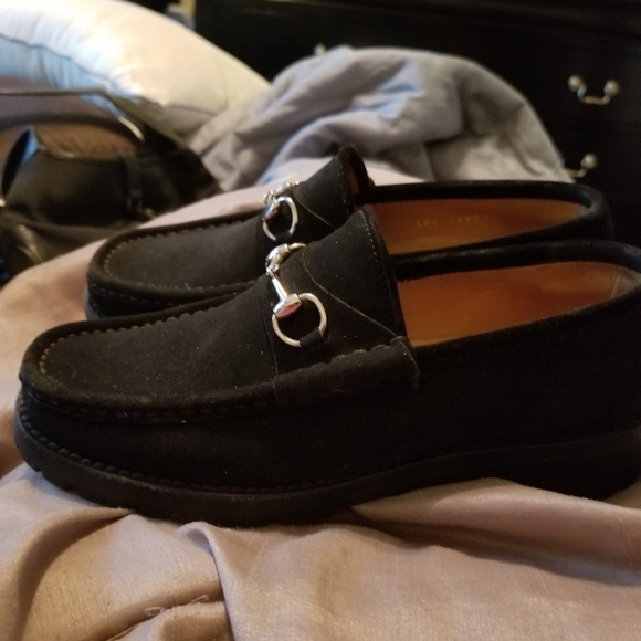 Gucci Shoes - Women black suede Gucci Loafers ba20ee05f
